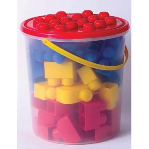 Πλαστικά τουβλάκια κουβάς 48τεμ.