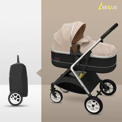 Καροτσάκι μωρού LEECUS μπεζ